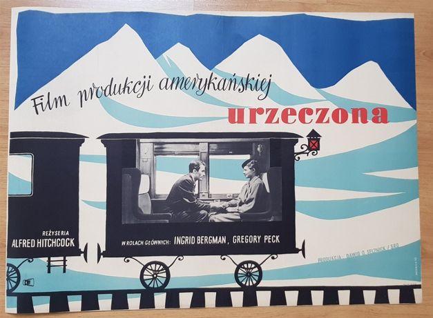 Plakat filmowy Urzeczona Heidrich 1959 Hitchcock plakat PRL Oryginał