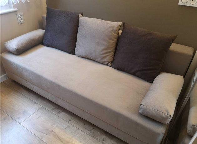 Sofa rozkładana 3os na gwarancji latte brown