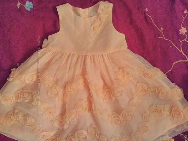 Нарядное пышное платье Marmellata для девочки 12-18 месяцев,