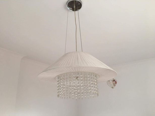Lampa / żyrandol / kryształki / glamour/ chrom