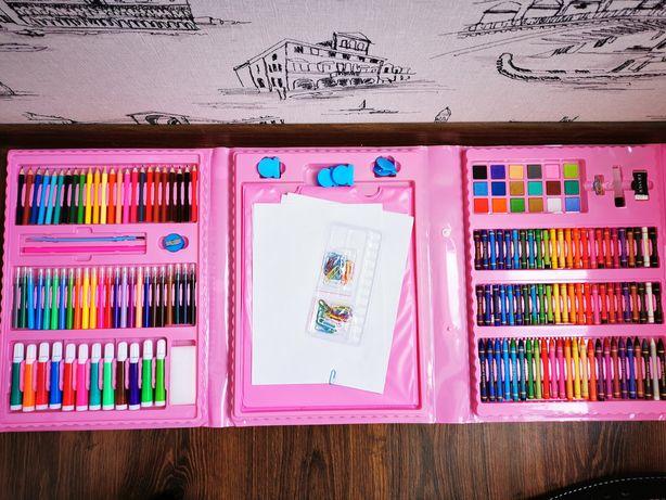 Набор художника для рисования с мольбертом 210 предметов в кейсе