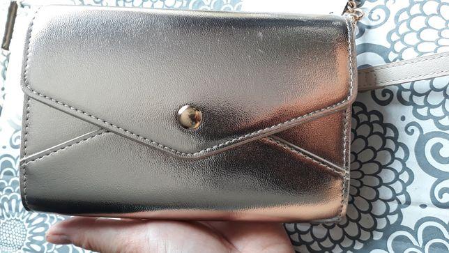 mini Kopertówka / torebka na ramię ZŁOTA