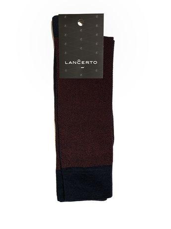 Skarpety Lancerto czarne w czerowne kropki