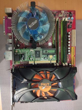Комплект 775 socket MSI Neo p35 + 5gb ddr2 + palit gtx 550 1 gb