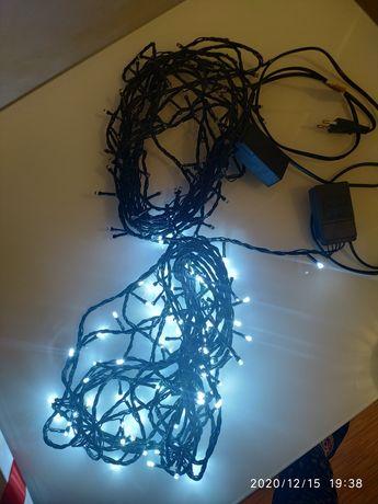 Sprzedam lampki choinkowe światło białe ,3 komplety