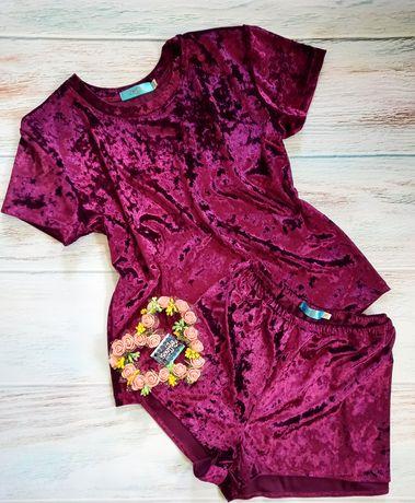 Велюровый спально-домашний костюм , пижама.