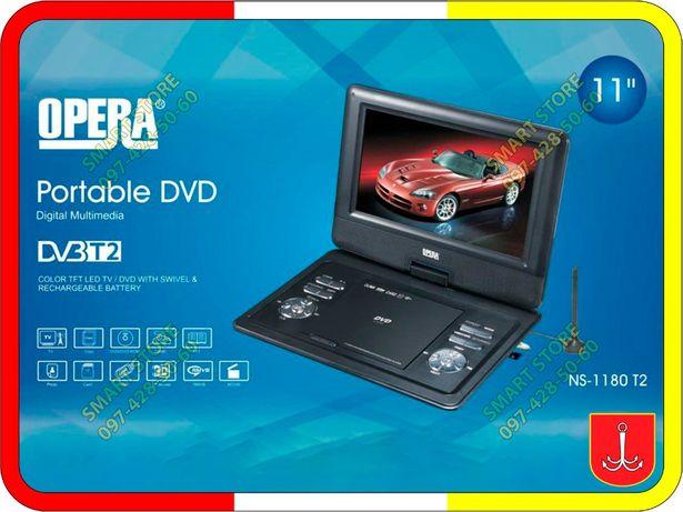 Портативный DVD 11 дюймов, встроенный тюнер T2, USB, аккумулятор