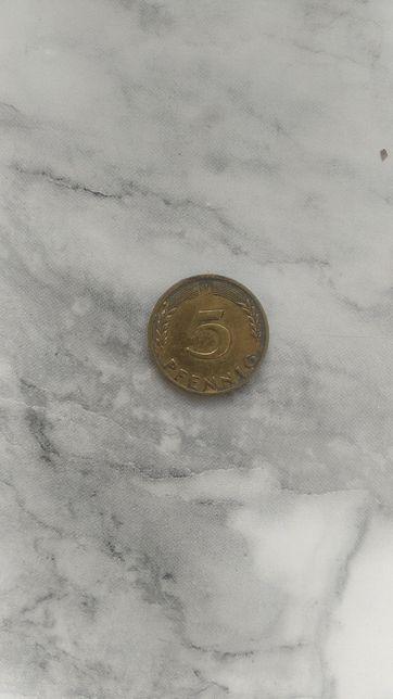 5 pfennig 1950 j