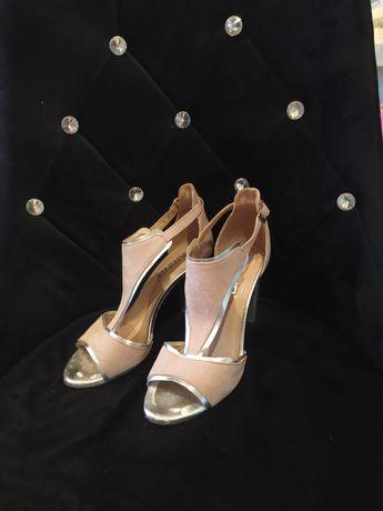 Buty skórzane buciki sandałki Karino
