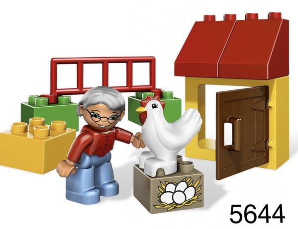 Lego Duplo 5644 kurnik babcia kura