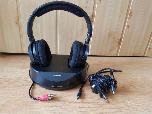 Słuchawki bez kablowe Thomson WHP3001BK ze stacją.