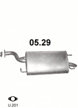 Глушитель Эпика, Эванда (Chevrolet Epica, Evanda) 05.29 Польша
