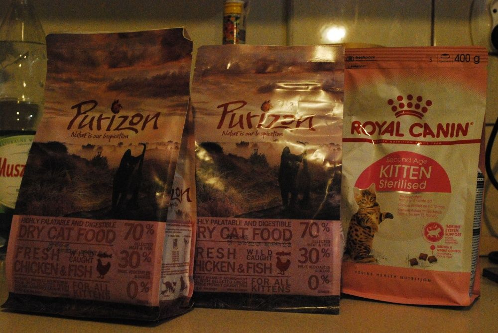 sucha karma dla kota purizon i royal canin (3 x 400g) Gliwice - image 1