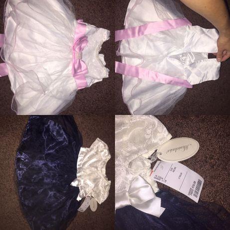 Святкові платтячка на дівчинку 1-1,5р, розмір 70,86