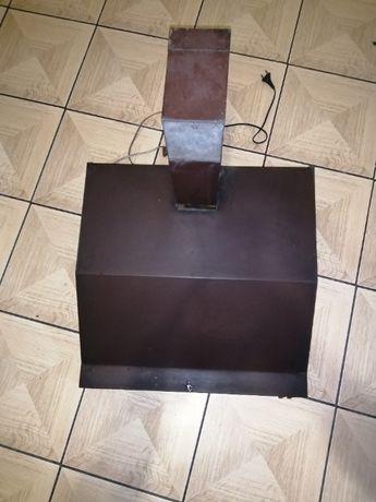Okap kuchenny kolor brązowy sprawny