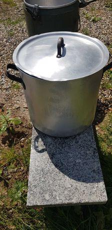 Gar aluminiowy z pokrywką