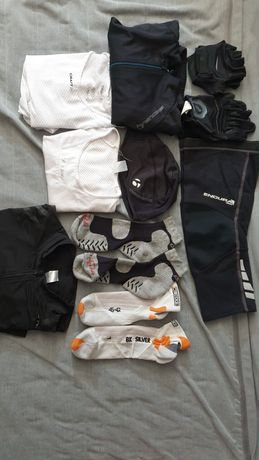 Zestaw ubran rowerowych - endura, x-bionic,bontrager, cfaft, 661 - bdb