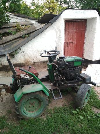 Продам саморобний міні трактор з мотоблоку