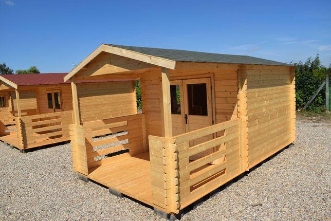 solidny domek letniskowy z tarasem*5x3*15m2*ogrodowy*domki*balik 34mm