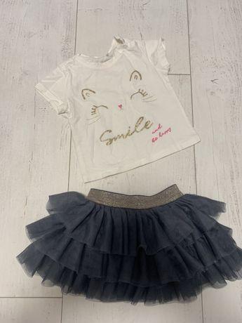 Konpemcik dla dziewcznki z tiulowa spodniczka