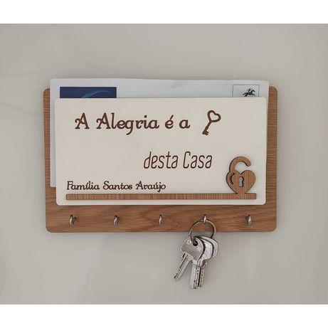 Chaveiro e Porta Cartas personalizado