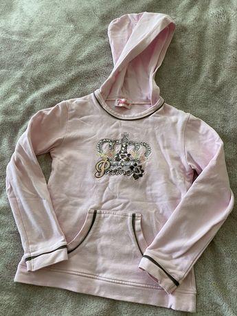 Худи свитшот толстовка кофта Pacino с капюшоном для девочки розовая
