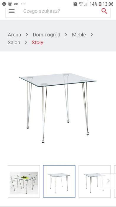 Stół szklany Vetro 80x80 cm Lubin - image 1