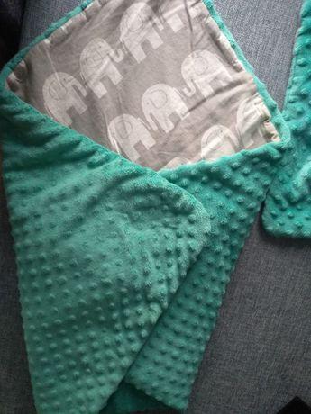 Rożek niemowlęcy Becik, Kocyk + Poduszka dwustronny 70x100