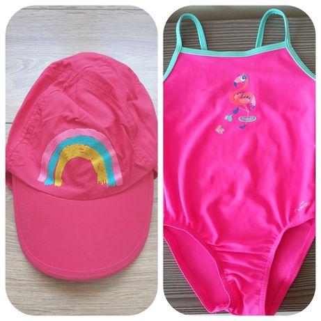 Strój kąpielowy 3 latka i czapka UV Decathlon