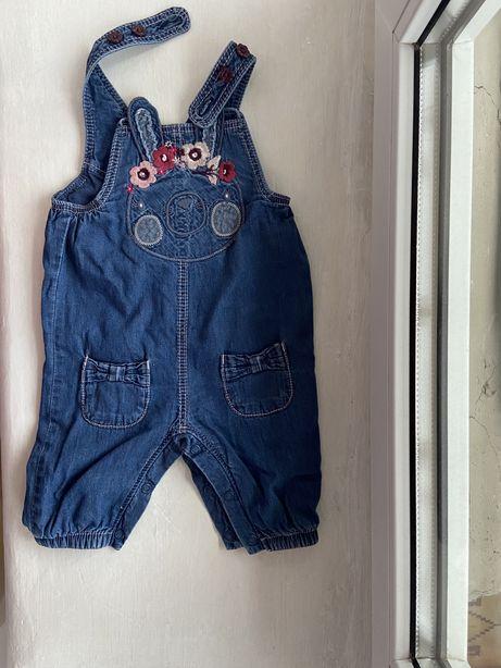 Комбинезон для девочки грудничка джинсовый