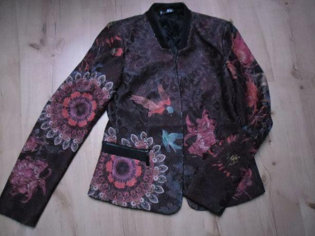 Piękny żakiet kurtka 101 IDEES styl Desigual S/M