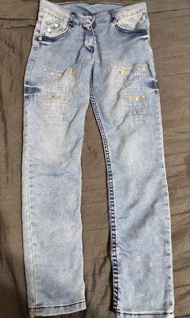 Супер модные джинсы на девочку 8-10 лет