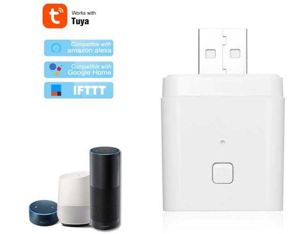 Tuya Smart life Tomada USB 5V WIFI inteligente Alexa Google Assistant