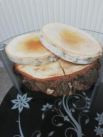 Plastry drewna (podstawki)