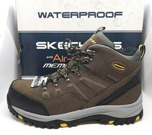 Стильные кожаные водонепроницаемые трекинговые ботинки Skechers