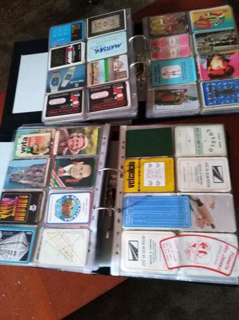 Coleção de calendários de bolso