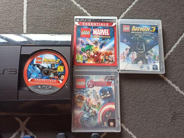 konsola PS3 z grami, PlayStation Lego, Marvel, Batman, Avengers