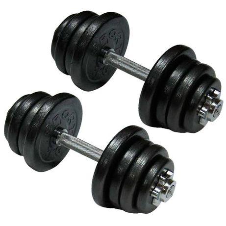 Гантели наборные стальные 2 шт по 17,5кг, общий вес 35кг