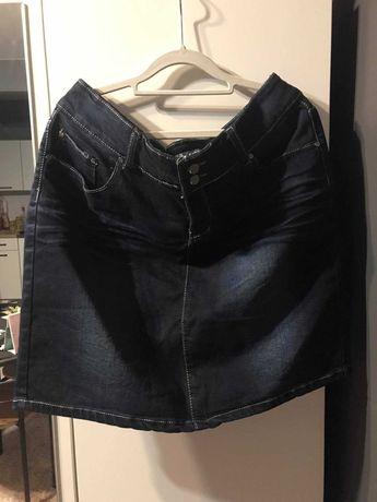 spódniczka ciemny jeans