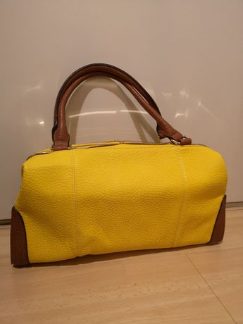 Torba rowerowa damska żółta a4