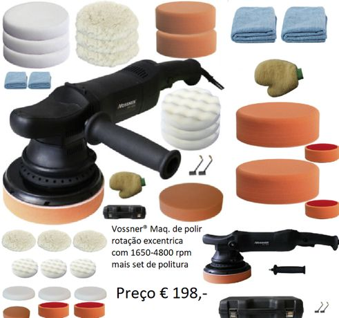 Maquina de polir marca Vossner VS 1650 rotação excentrica com set incl