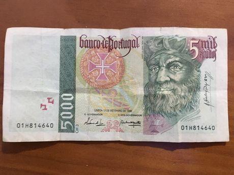 Nota de 5000 escudos