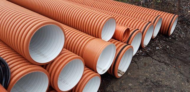 Двухслойные гофрированные трубы для ливневой канализации 110-1200 мм