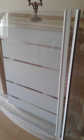 Resguardo/porta de vidro para banheira