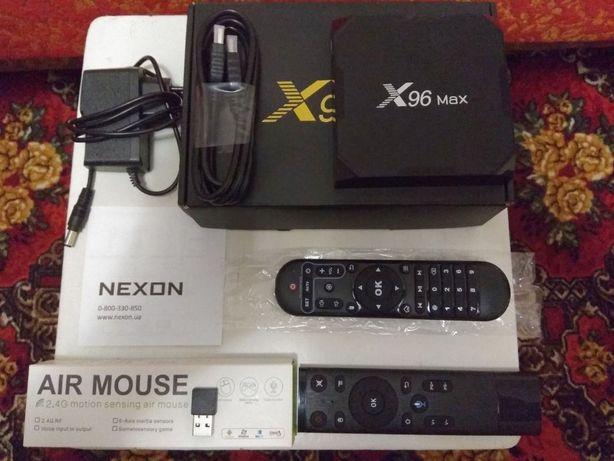 СМАРТ ТВ приставка X96 Max, Пульт (аэромышь) Nexon Q5, IR приемник