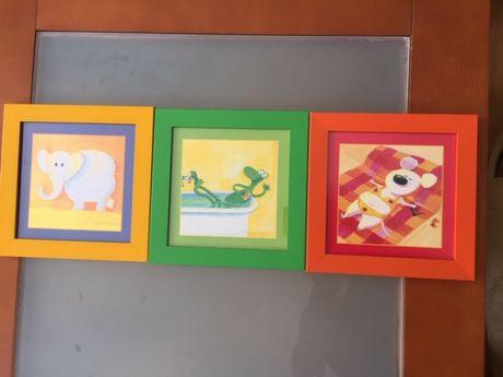 Trzy obrazki do pokoju dziecka