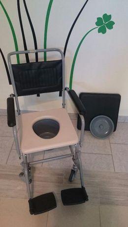 Wózek inwalidzki toaletowy, krzesło WC, transportowy