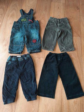 Spodnie chłopięce rozmiar 86 4 szt
