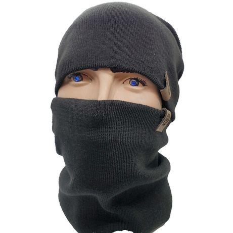 Комплект (шапка + шарф) Черный