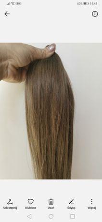 Włosy naturalne dziewicze Polskie słowiańskie blond ciemny 52cm